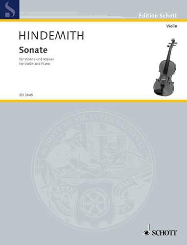 Sonate 1939 - HINDEMITH - Partition - Violon - laflutedepan.com