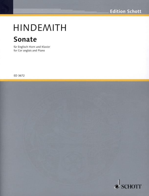 Paul Hindemith - Sonate - Englisch Horn Klavier - Partition - di-arezzo.co.uk