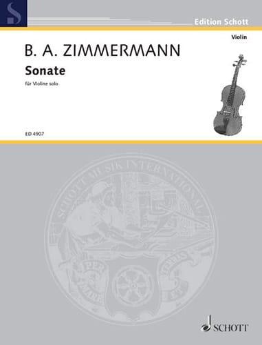 Bernd Alois Zimmermann - Sonate - Violin only - Partition - di-arezzo.com