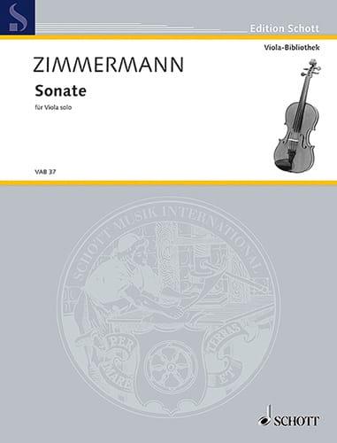 Sonate für Viola solo - Bernd Alois Zimmermann - laflutedepan.com