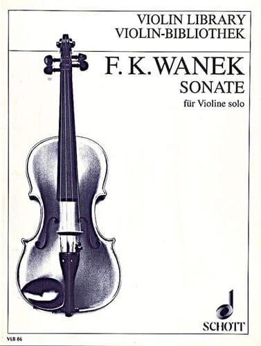 Sonate - Violon Solo - Friedrich K. Wanek - laflutedepan.com