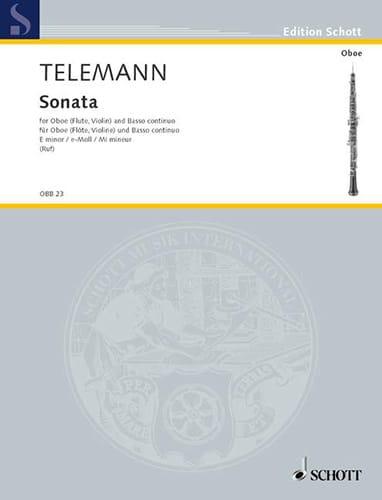 Sonate e-moll -Oboe Flöte, Violine und Bc - laflutedepan.com