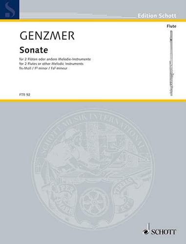 Sonate Fis-moll - 2 Flöten - Harald Genzmer - laflutedepan.com