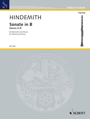 Paul Hindemith - Sonata in B - Klarinette Piano - Partition - di-arezzo.co.uk