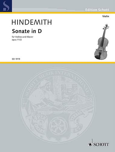 Sonate op. 11 n° 2 in D - HINDEMITH - Partition - laflutedepan.com