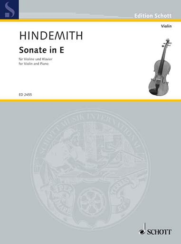 Sonate in E 1935 - HINDEMITH - Partition - Violon - laflutedepan.com