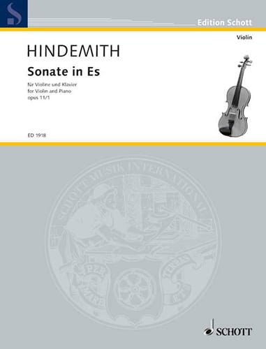 Sonate op. 11 n° 1 in Es - HINDEMITH - Partition - laflutedepan.com