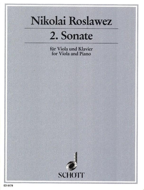 Sonate n° 2 - Viola - Nikolai Roslawez - Partition - laflutedepan.com