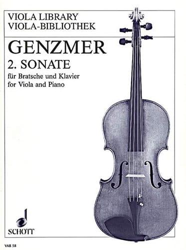 Sonate Nr. 2 -Viola Klavier - Harald Genzmer - laflutedepan.com