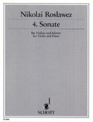 Sonate n° 4 - Violine - Nikolai Roslawez - laflutedepan.com