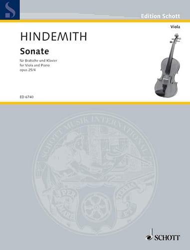 Sonate, op. 25 n° 4 - HINDEMITH - Partition - Alto - laflutedepan.com