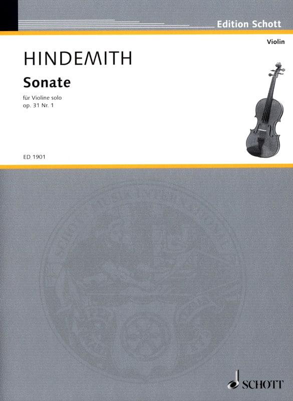 Sonate op. 31 n° 1 - HINDEMITH - Partition - laflutedepan.com
