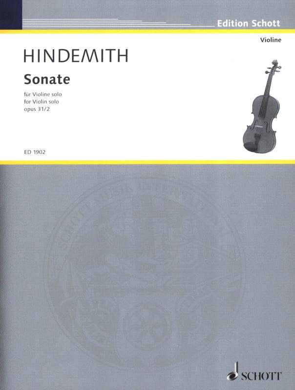 Sonate opus 31 n° 2 - HINDEMITH - Partition - laflutedepan.com
