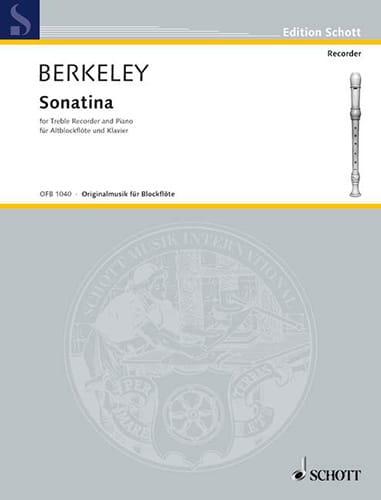 Sonatina - Altblockflöte-Klavier - Lennox Berkeley - laflutedepan.com