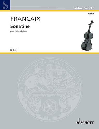 Sonatine - FRANÇAIX - Partition - Violon - laflutedepan.com