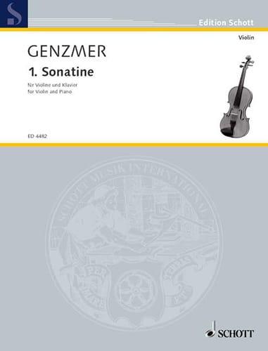 Sonatine 1953 - Violon piano - Harald Genzmer - laflutedepan.com