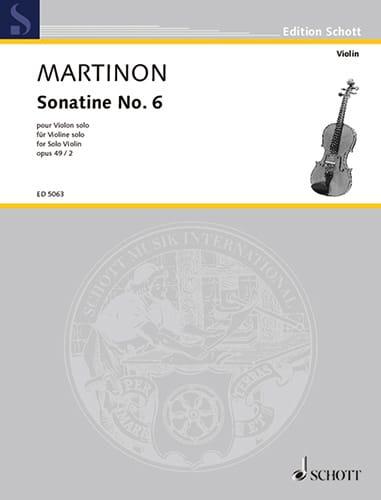 Jean Martinon - Sonatine No. 6, op. 49 n ° 2 - Partition - di-arezzo.com
