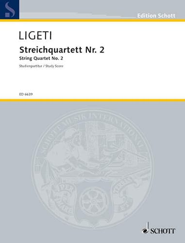 György Ligeti - Streichquartett Nr. 2 1968 - Partitur - Partition - di-arezzo.es