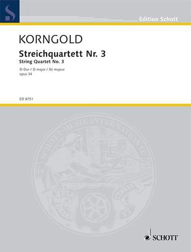 Streichquartett Nr. 3 D-Dur -Partitur + Stimmen - laflutedepan.com