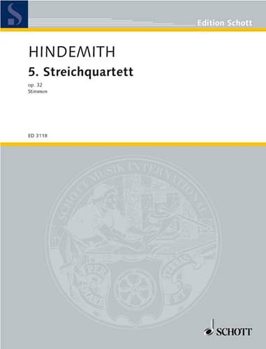 Streichquartett Nr. 5 op. 32 - Stimmen - HINDEMITH - laflutedepan.com