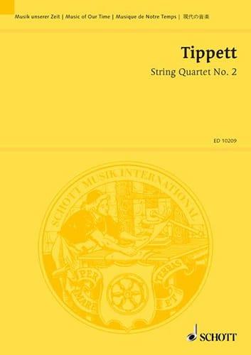 Michael Tippett - Cuarteto de cuerdas n ° 2 - Partitura - Partition - di-arezzo.es