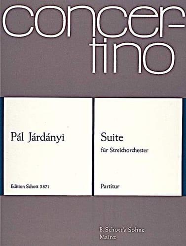 Suite - Partitur - Pal Jardanyi - Partition - laflutedepan.com