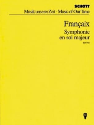 Symphonie en sol majeur - FRANÇAIX - Partition - laflutedepan.com