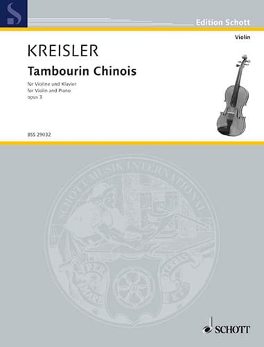 Fritz Kreisler - Chinese Tambourine Opus 3 - Partition - di-arezzo.co.uk
