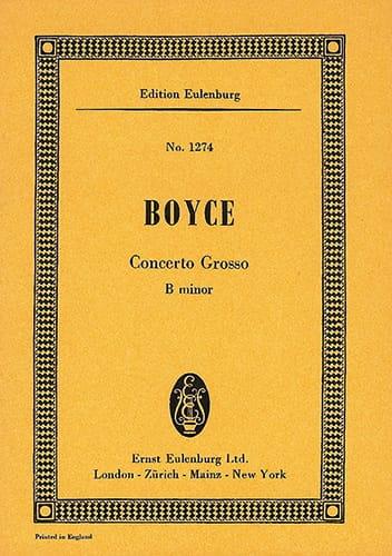 Concerto grosso h-Moll - William Boyce - Partition - laflutedepan.com
