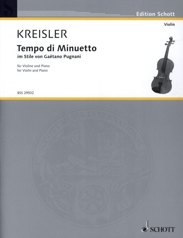 Fritz Kreisler - Tempo di Minuetto im Stile by G. Pugnani - Partition - di-arezzo.co.uk