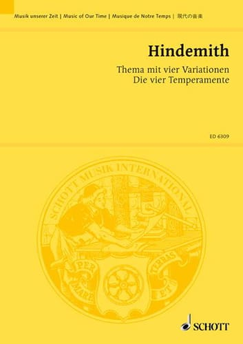 Thema mit vier Variationen -Partitur - HINDEMITH - laflutedepan.com