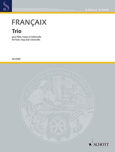 Jean Françaix - Trio 1971 - Flute, cello, harp - Partition - di-arezzo.com