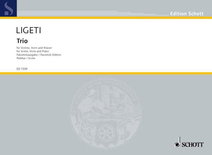 György Ligeti - Trio für Violine, Horn und Klavier - Partitur - Partition - di-arezzo.fr