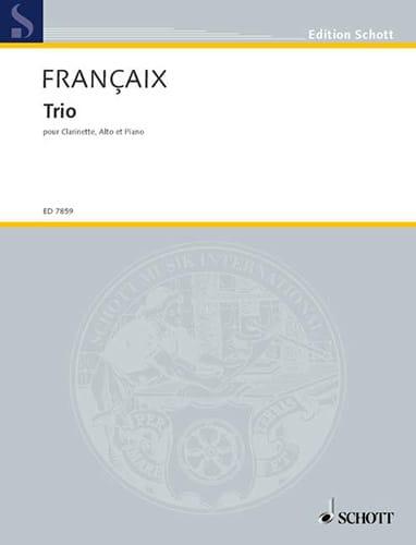 Jean Françaix - Trio 1990 - Alto clarinet and piano - Partition - di-arezzo.com