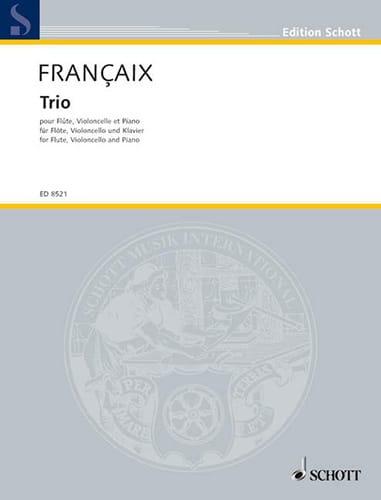 Jean Françaix - Trio 1995 - Flute, cello piano - Partition - di-arezzo.com