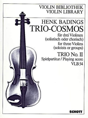 Trio Cosmos n° 2 - Henk Badings - Partition - laflutedepan.com