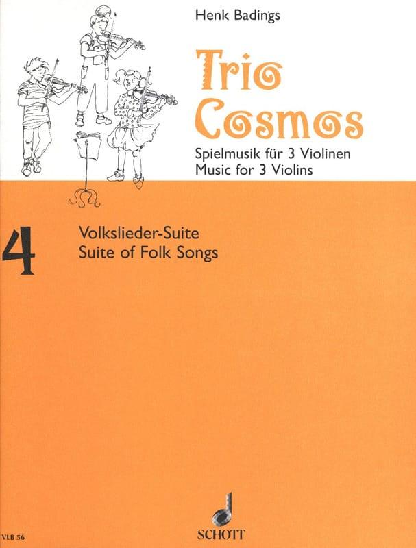 Trio-Cosmos n° 4 - Henk Badings - Partition - laflutedepan.com