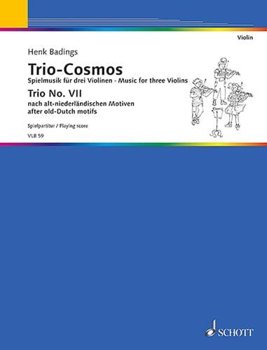 Trio-Cosmos n° 7 - Henk Badings - Partition - laflutedepan.com