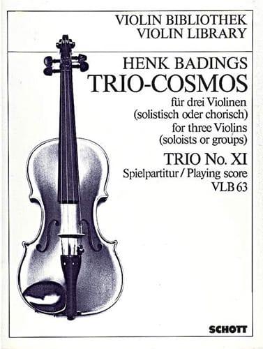 Henk Badings - Trio-Cosmos n ° 11 - Partition - di-arezzo.es