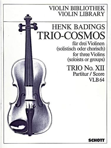 Henk Badings - Trio-Cosmos n ° 12 - Partition - di-arezzo.es