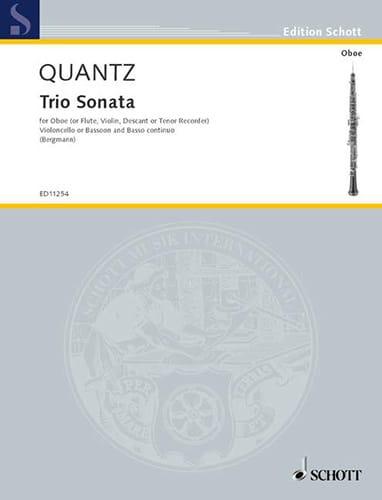 Triosonate G-Dur Oboe Violoncello Bc - QUANTZ - laflutedepan.com