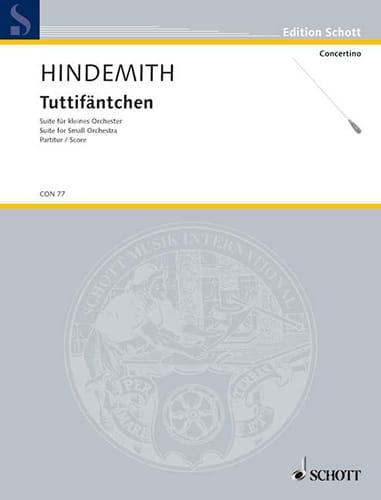 Tuttifäntchen - HINDEMITH - Partition - laflutedepan.com