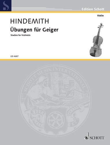 Paul Hindemith - Übungen für Geiger - Partition - di-arezzo.co.uk