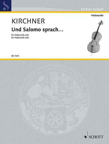 Und Salomo sprach... - Volker David Kirchner - laflutedepan.com