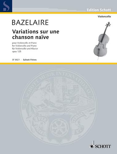 Paul Bazelaire - Variations on a naive song Op. 125 - Partition - di-arezzo.co.uk