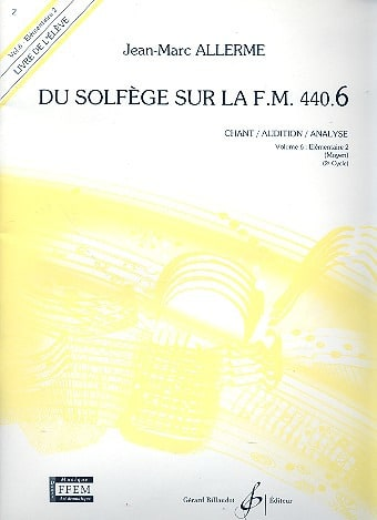 Jean-Marc Allerme - de Solfège en el FM 440.6 - Chant Audition Analyse - Partition - di-arezzo.es
