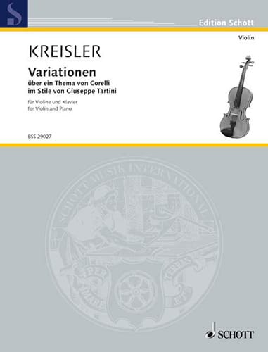 Fritz Kreisler - Variation in über ein Thema von Corelli - Partition - di-arezzo.co.uk