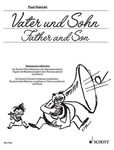 Vater und Sohn - Piccolo-Flöte Fagott Klavier - laflutedepan.com