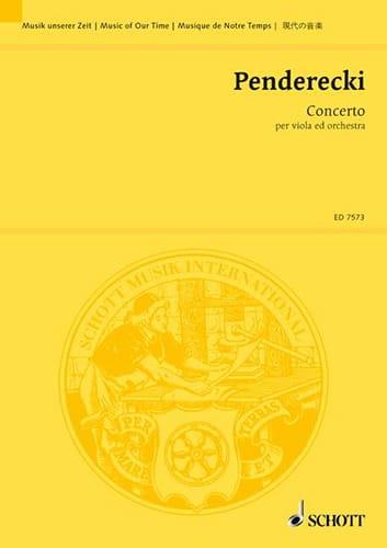 Concerto per viola - Partitur - PENDERECKI - laflutedepan.com