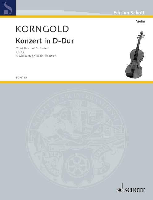 KORNGOLD - Concerto in D Major Opus 35 - Partition - di-arezzo.co.uk